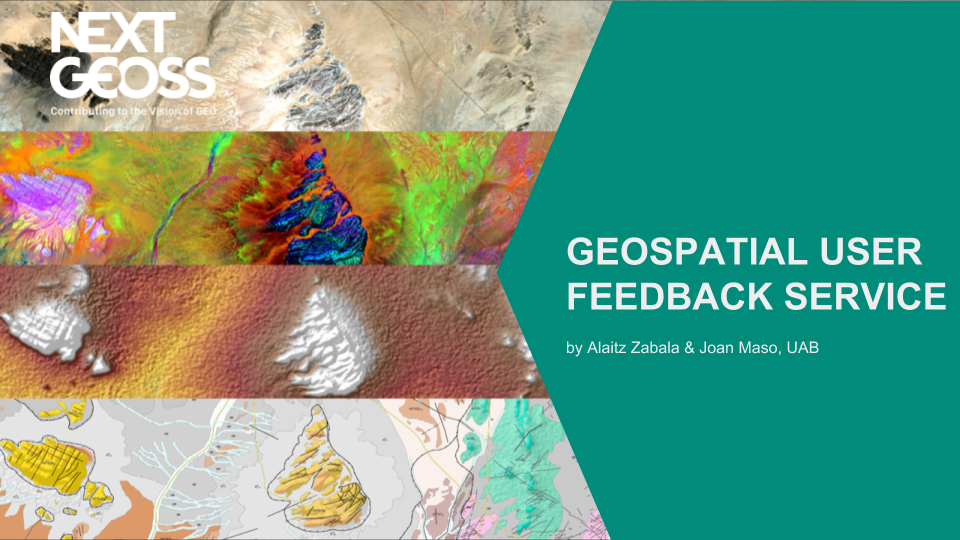 NextGEOSS Geospatial User Feedback
