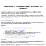 Description of European RS-EBV's and abiotic site conditions